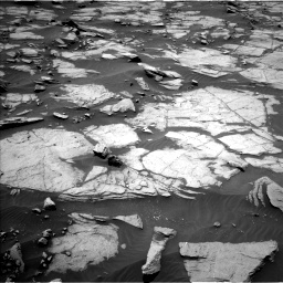 Nasa's Mars rover Curiosity acquired this image using its Left Navigation Camera on Sol 1384, at drive 736, site number 55
