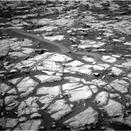 Nasa's Mars rover Curiosity acquired this image using its Left Navigation Camera on Sol 1384, at drive 814, site number 55