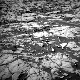 Nasa's Mars rover Curiosity acquired this image using its Left Navigation Camera on Sol 1384, at drive 838, site number 55