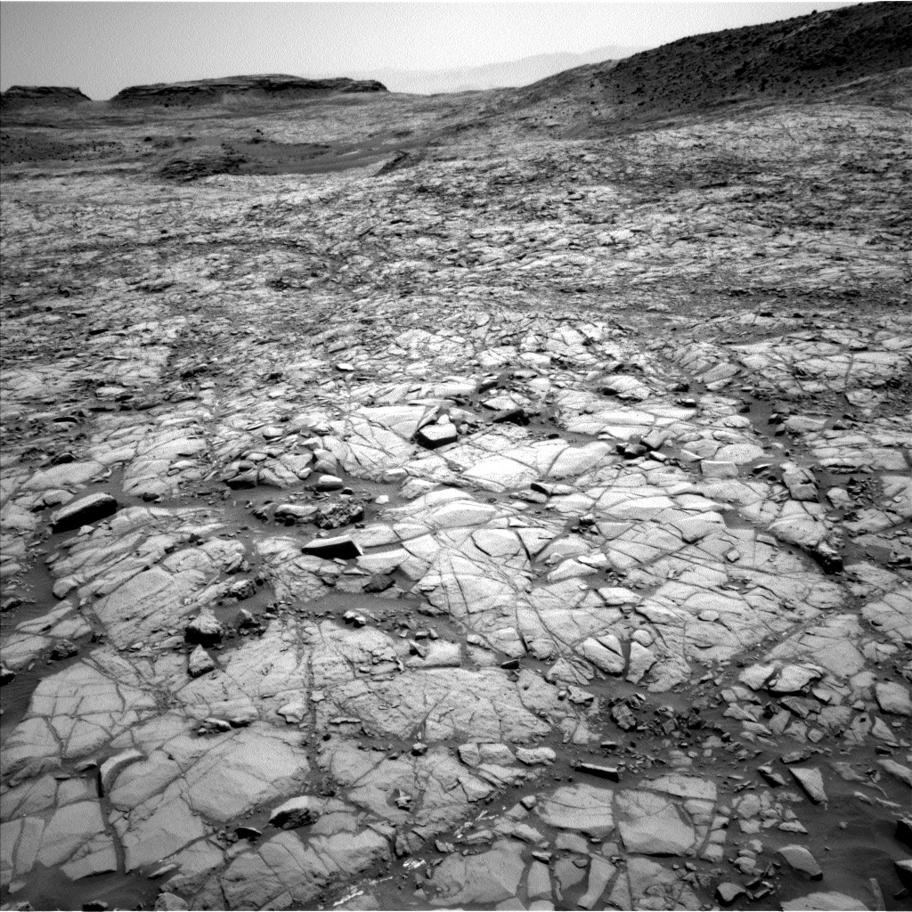 NASA's Mars rover Curiosity acquired this image using its Left Navigation Camera (Navcams) on Sol 1384
