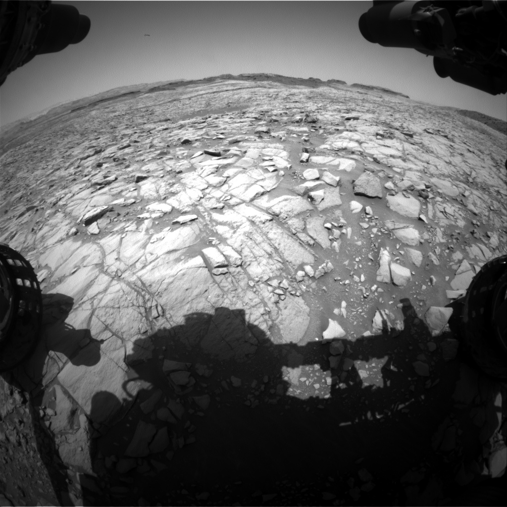 Nasa's Mars rover Curiosity acquired this image using its Front Hazard Avoidance Camera (Front Hazcam) on Sol 1385, at drive 940, site number 55