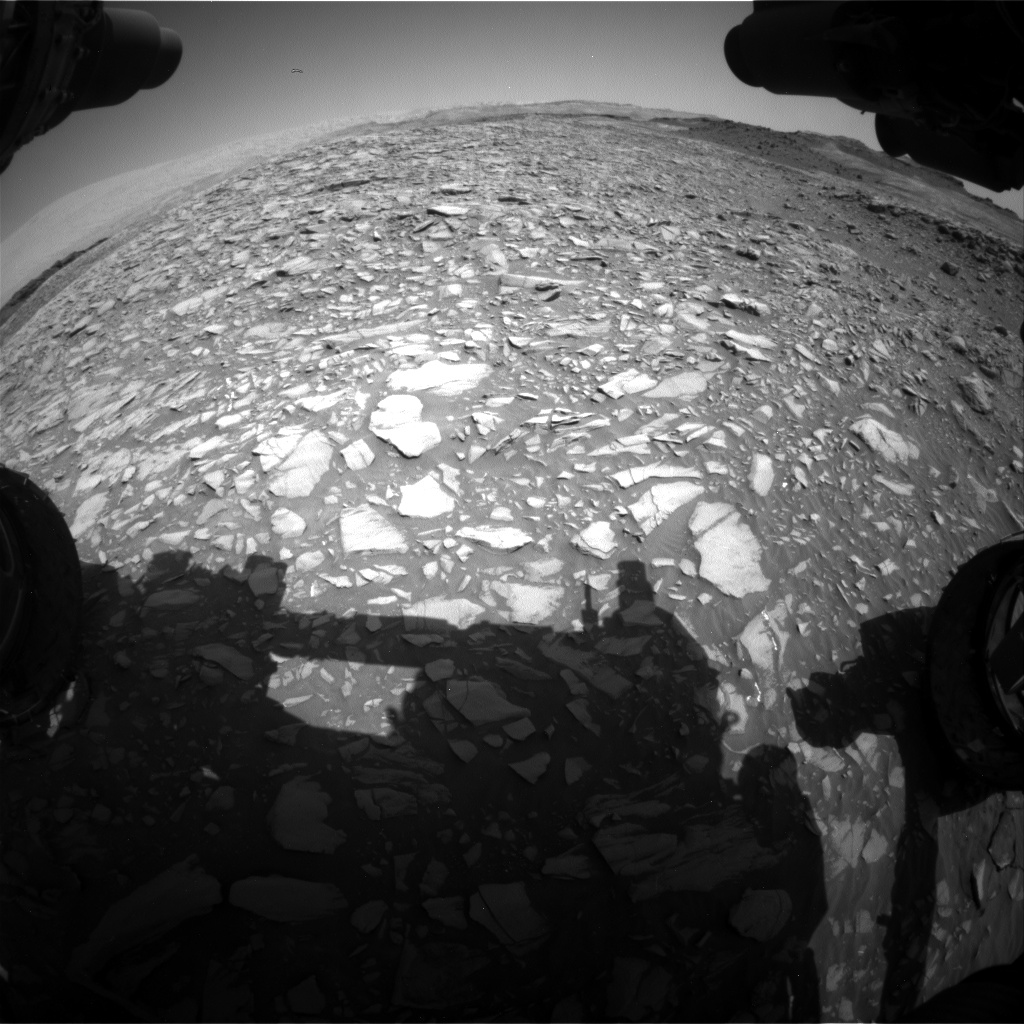 Nasa's Mars rover Curiosity acquired this image using its Front Hazard Avoidance Camera (Front Hazcam) on Sol 1385, at drive 1312, site number 55