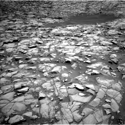 Nasa's Mars rover Curiosity acquired this image using its Left Navigation Camera on Sol 1385, at drive 946, site number 55