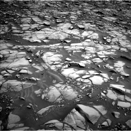 Nasa's Mars rover Curiosity acquired this image using its Left Navigation Camera on Sol 1385, at drive 988, site number 55