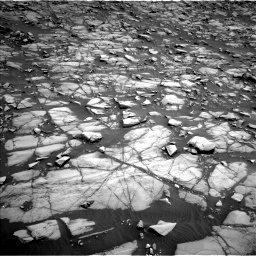 Nasa's Mars rover Curiosity acquired this image using its Left Navigation Camera on Sol 1385, at drive 1006, site number 55