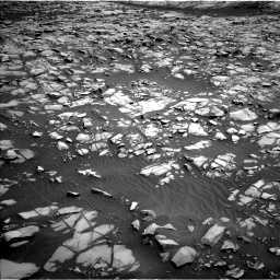 Nasa's Mars rover Curiosity acquired this image using its Left Navigation Camera on Sol 1385, at drive 1048, site number 55