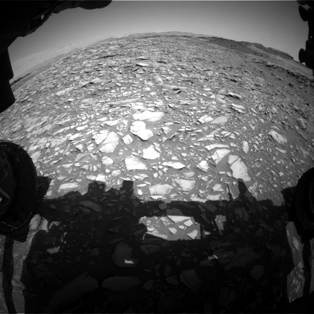 Nasa's Mars rover Curiosity acquired this image using its Front Hazard Avoidance Camera (Front Hazcam) on Sol 1386, at drive 1312, site number 55