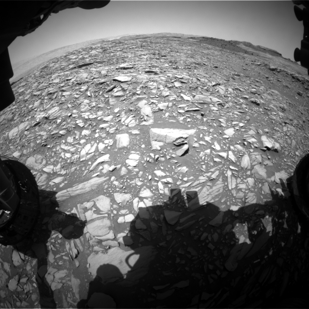 NASA's Mars rover Curiosity acquired this image using its Front Hazard Avoidance Cameras (Front Hazcams) on Sol 1387