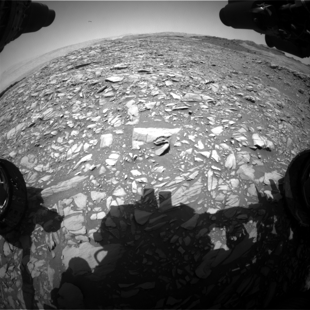 Nasa's Mars rover Curiosity acquired this image using its Front Hazard Avoidance Camera (Front Hazcam) on Sol 1387, at drive 1336, site number 55