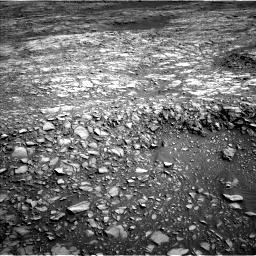 Nasa's Mars rover Curiosity acquired this image using its Left Navigation Camera on Sol 1387, at drive 1402, site number 55