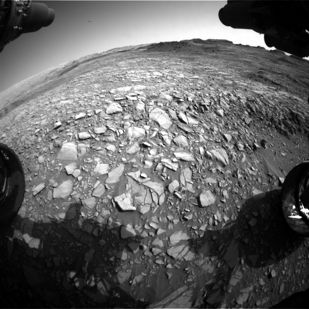 Nasa's Mars rover Curiosity acquired this image using its Front Hazard Avoidance Camera (Front Hazcam) on Sol 1388, at drive 1420, site number 55