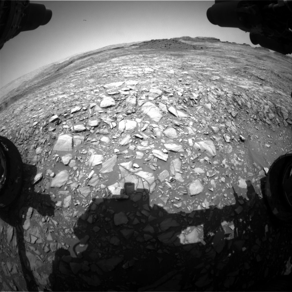 Nasa's Mars rover Curiosity acquired this image using its Front Hazard Avoidance Camera (Front Hazcam) on Sol 1398, at drive 1420, site number 55
