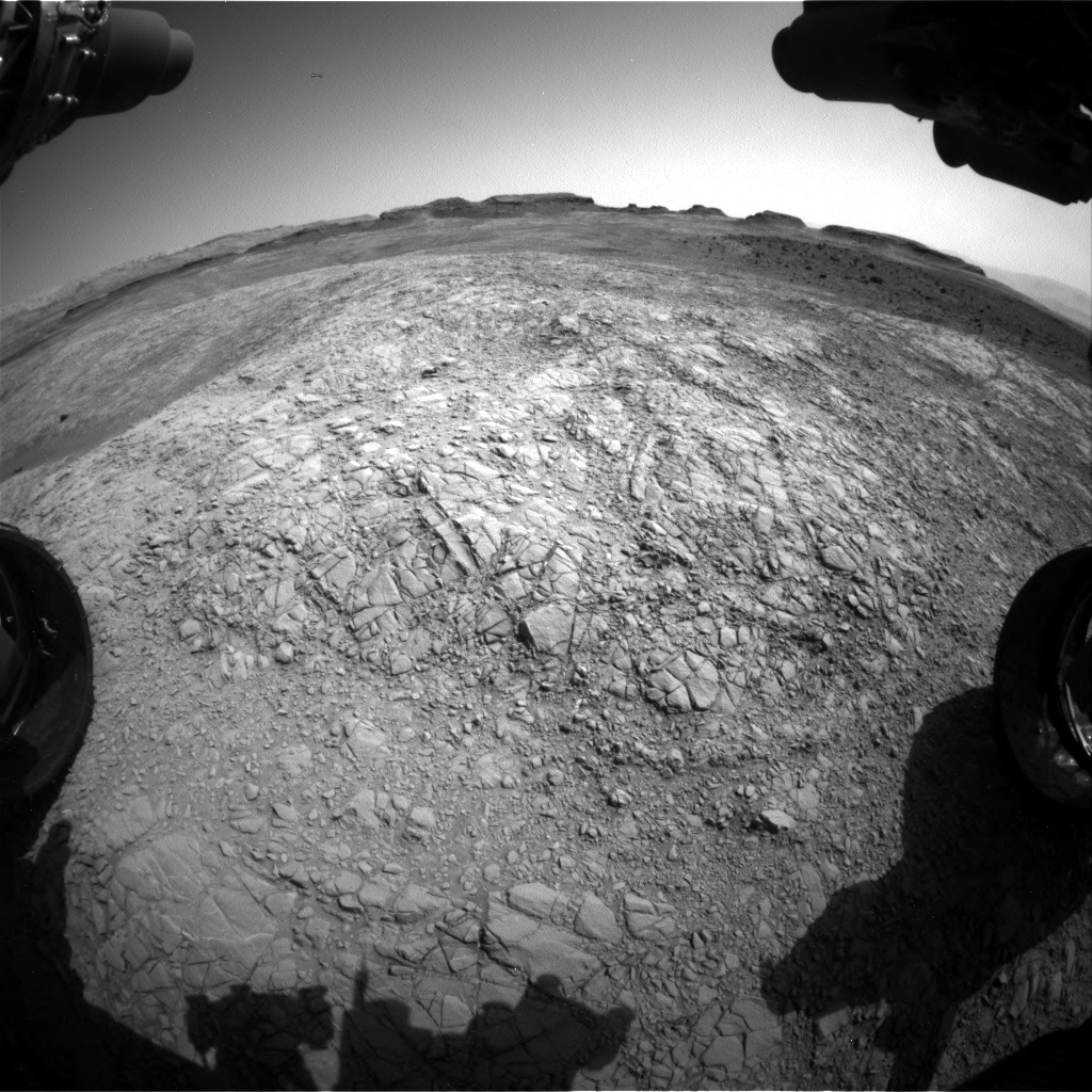 Nasa's Mars rover Curiosity acquired this image using its Front Hazard Avoidance Camera (Front Hazcam) on Sol 1398, at drive 1864, site number 55