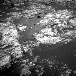 Nasa's Mars rover Curiosity acquired this image using its Left Navigation Camera on Sol 1398, at drive 1618, site number 55
