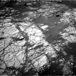 Nasa's Mars rover Curiosity acquired this image using its Left Navigation Camera on Sol 1398, at drive 1624, site number 55