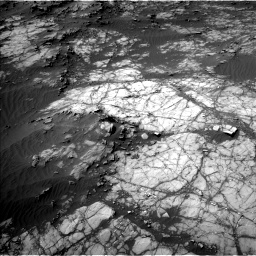 Nasa's Mars rover Curiosity acquired this image using its Left Navigation Camera on Sol 1398, at drive 1636, site number 55