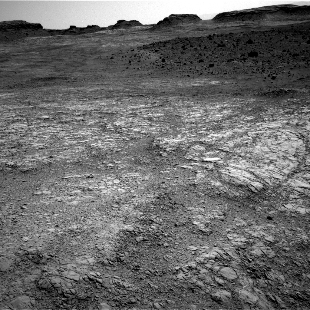 NASA's Mars rover Curiosity acquired this image using its Right Navigation Cameras (Navcams) on Sol 1398