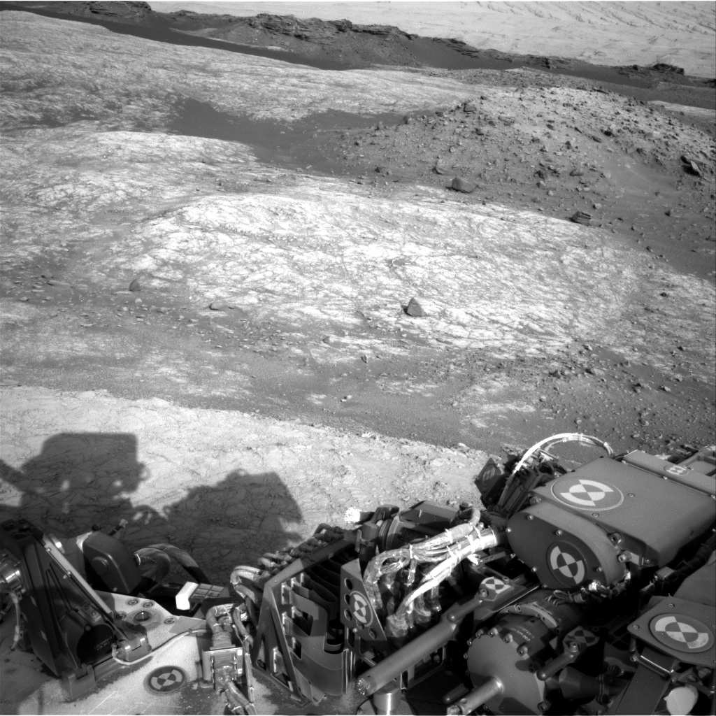 Nasa's Mars rover Curiosity acquired this image using its Right Navigation Camera on Sol 1398, at drive 1864, site number 55