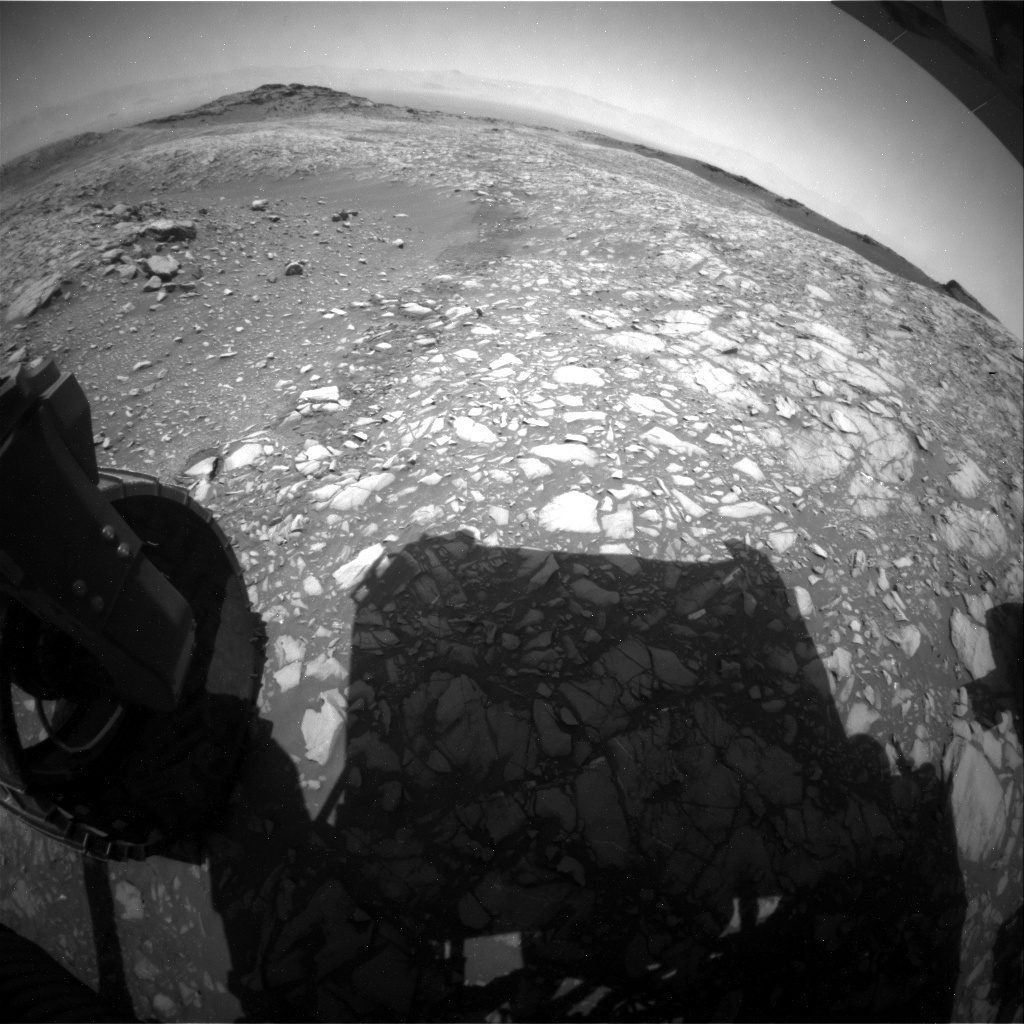 NASA's Mars rover Curiosity acquired this image using its Rear Hazard Avoidance Cameras (Rear Hazcams) on Sol 1398