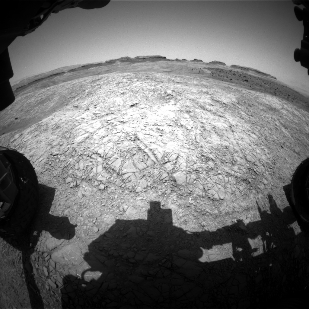 NASA's Mars rover Curiosity acquired this image using its Front Hazard Avoidance Cameras (Front Hazcams) on Sol 1399