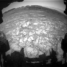Nasa's Mars rover Curiosity acquired this image using its Front Hazard Avoidance Camera (Front Hazcam) on Sol 1399, at drive 1972, site number 55