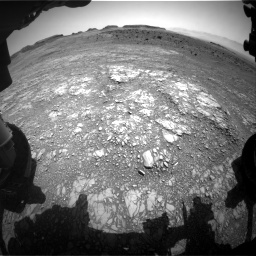 Nasa's Mars rover Curiosity acquired this image using its Front Hazard Avoidance Camera (Front Hazcam) on Sol 1399, at drive 1990, site number 55
