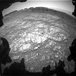 Nasa's Mars rover Curiosity acquired this image using its Front Hazard Avoidance Camera (Front Hazcam) on Sol 1399, at drive 2026, site number 55