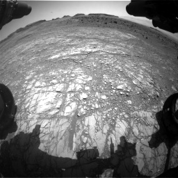 Nasa's Mars rover Curiosity acquired this image using its Front Hazard Avoidance Camera (Front Hazcam) on Sol 1399, at drive 2014, site number 55