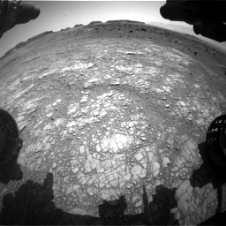 Nasa's Mars rover Curiosity acquired this image using its Front Hazard Avoidance Camera (Front Hazcam) on Sol 1399, at drive 2038, site number 55