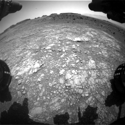 Nasa's Mars rover Curiosity acquired this image using its Front Hazard Avoidance Camera (Front Hazcam) on Sol 1399, at drive 2050, site number 55