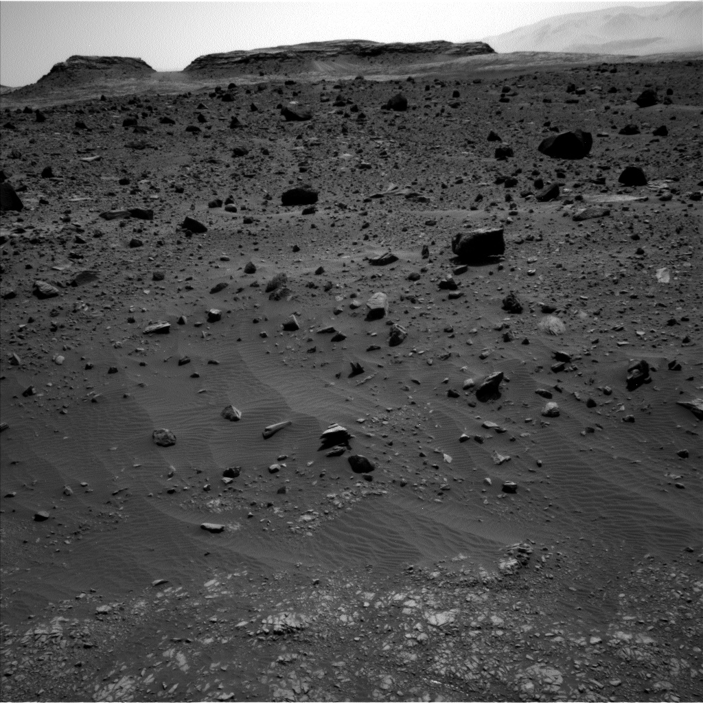 Nasa's Mars rover Curiosity acquired this image using its Left Navigation Camera on Sol 1399, at drive 2098, site number 55