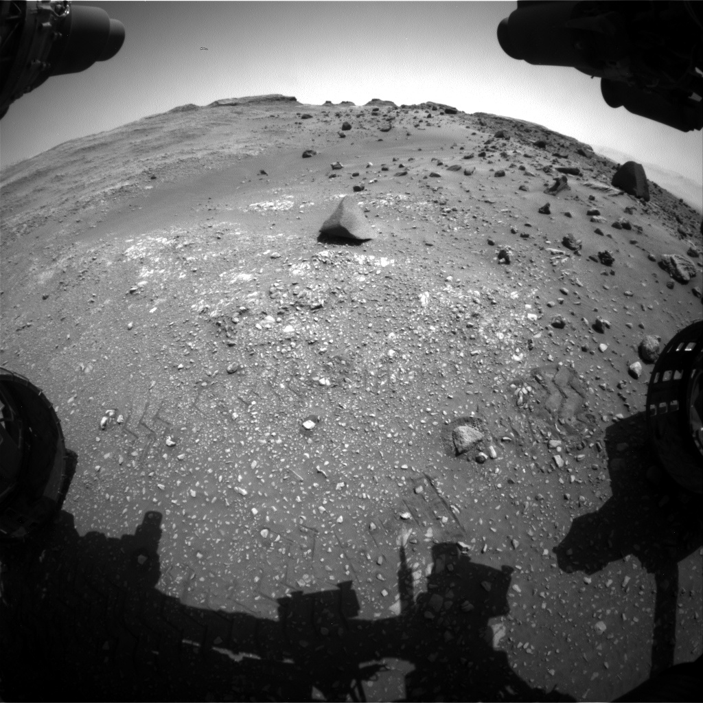 Nasa's Mars rover Curiosity acquired this image using its Front Hazard Avoidance Camera (Front Hazcam) on Sol 1400, at drive 2222, site number 55