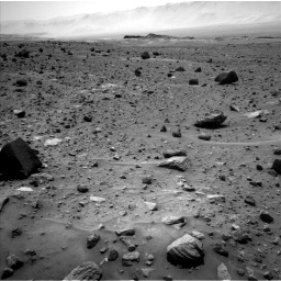 Nasa's Mars rover Curiosity acquired this image using its Left Navigation Camera on Sol 1400, at drive 2222, site number 55