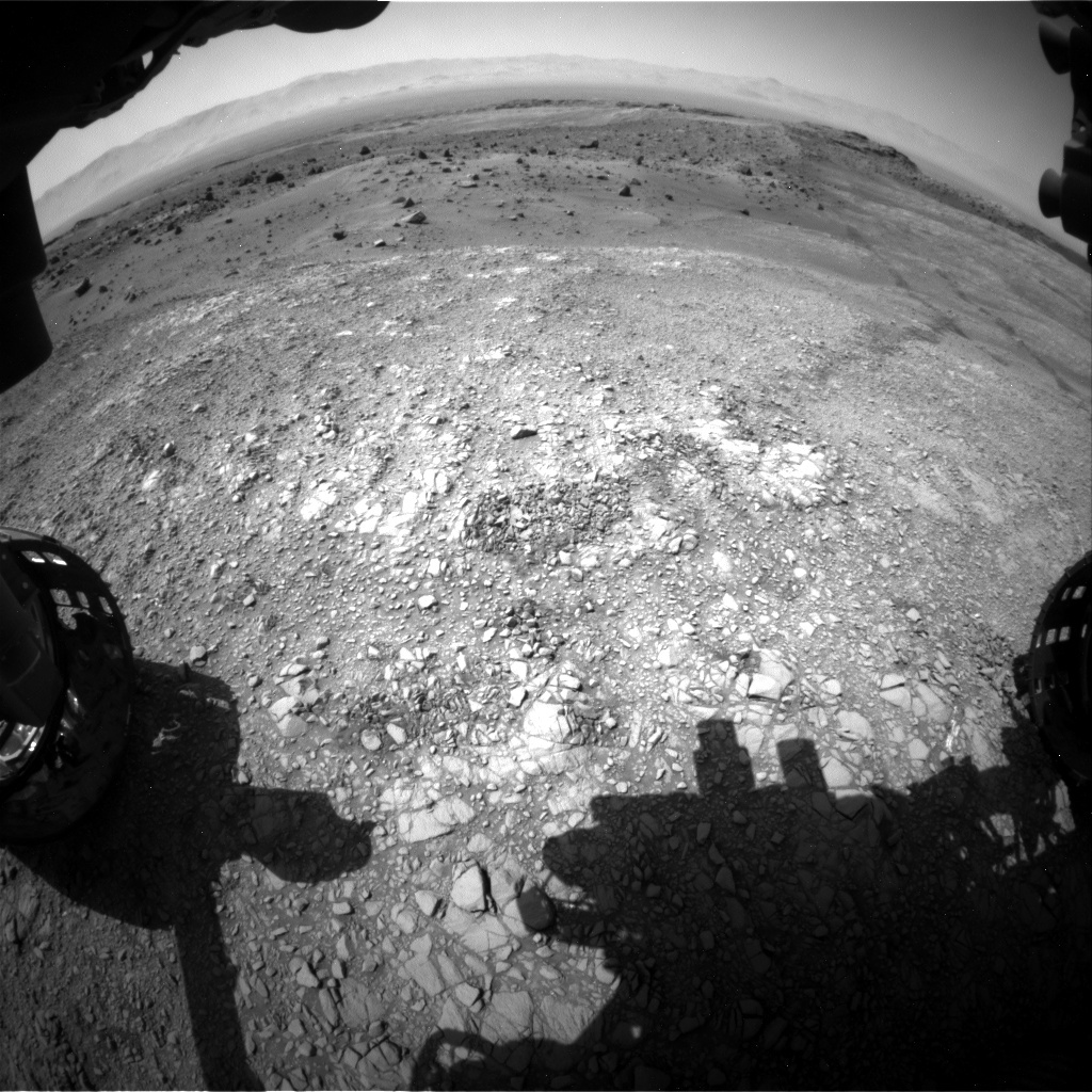 NASA's Mars rover Curiosity acquired this image using its Front Hazard Avoidance Cameras (Front Hazcams) on Sol 1401