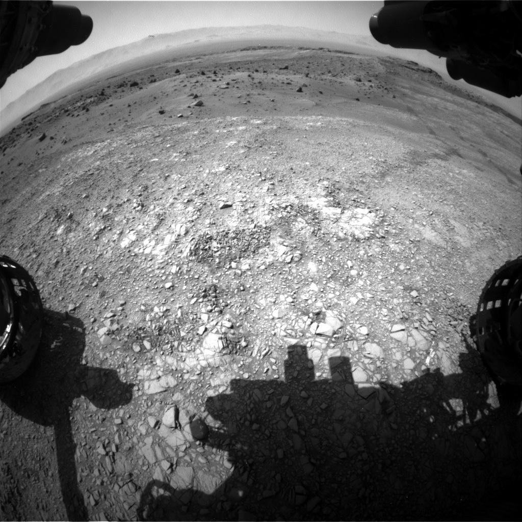 Nasa's Mars rover Curiosity acquired this image using its Front Hazard Avoidance Camera (Front Hazcam) on Sol 1401, at drive 2444, site number 55