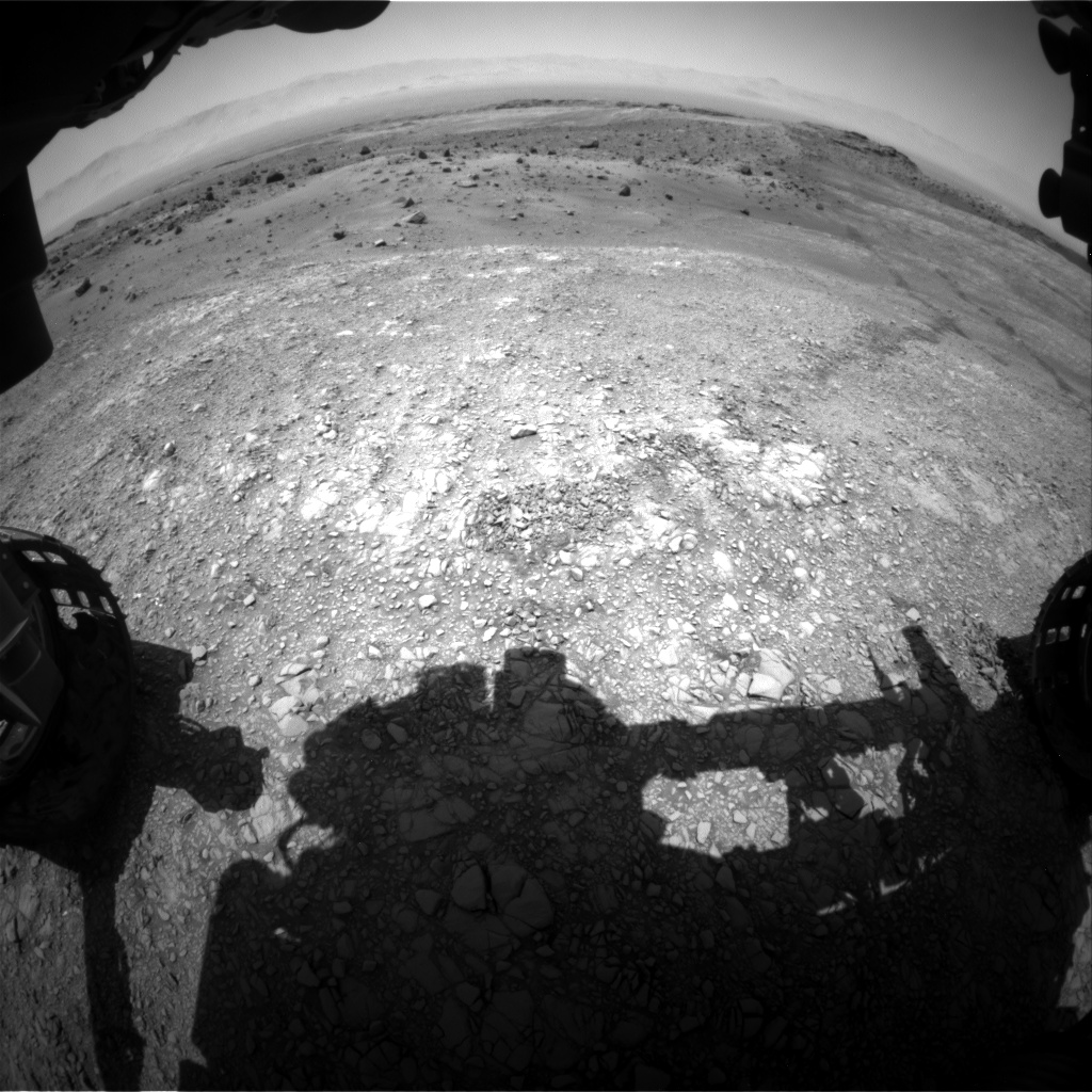Nasa's Mars rover Curiosity acquired this image using its Front Hazard Avoidance Camera (Front Hazcam) on Sol 1402, at drive 2444, site number 55