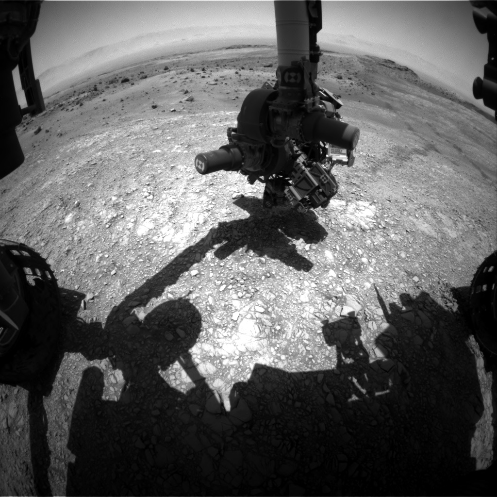 Nasa's Mars rover Curiosity acquired this image using its Front Hazard Avoidance Camera (Front Hazcam) on Sol 1405, at drive 2444, site number 55