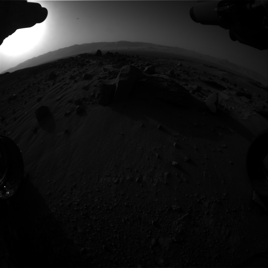 Nasa's Mars rover Curiosity acquired this image using its Front Hazard Avoidance Camera (Front Hazcam) on Sol 1405, at drive 0, site number 56