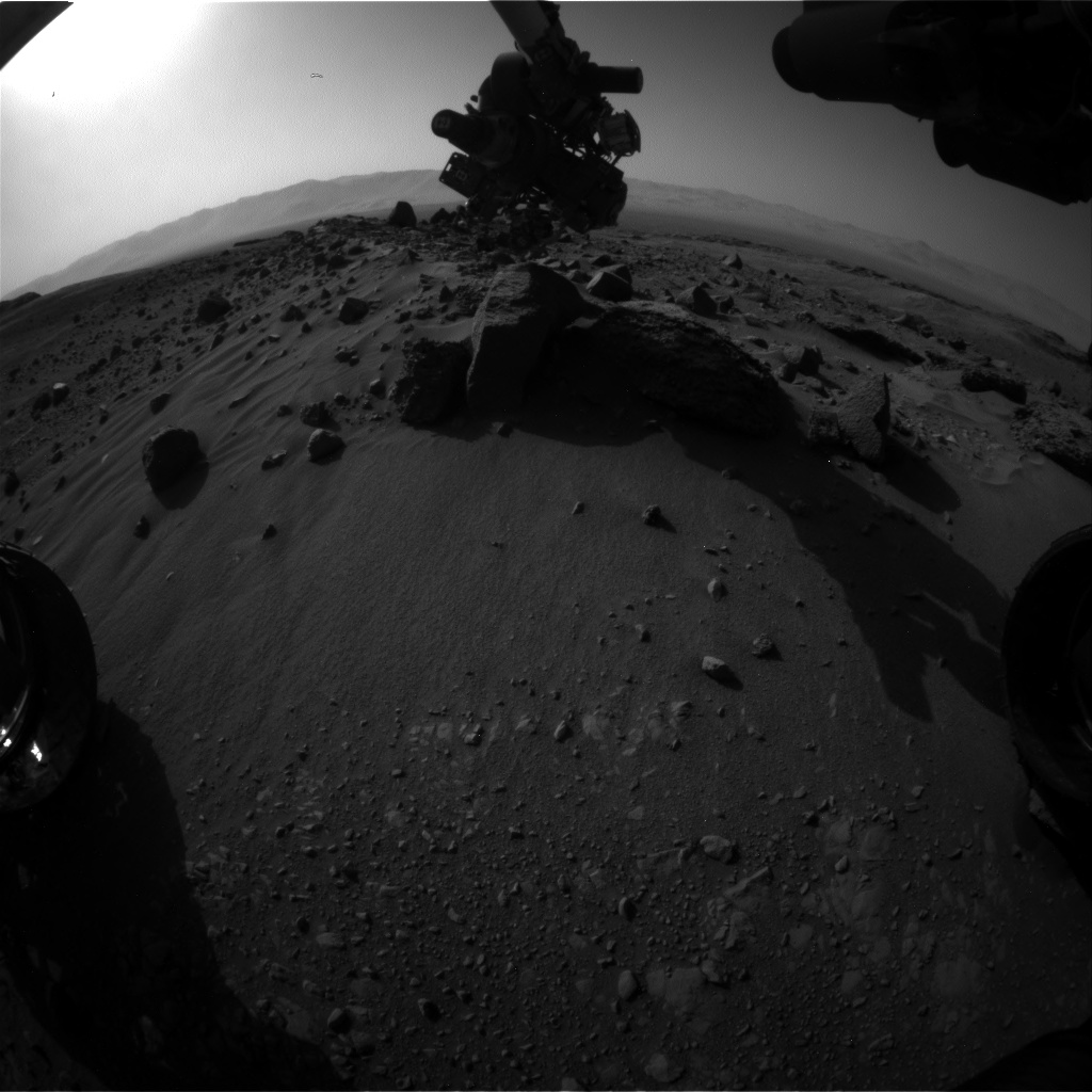 Nasa's Mars rover Curiosity acquired this image using its Front Hazard Avoidance Camera (Front Hazcam) on Sol 1407, at drive 0, site number 56
