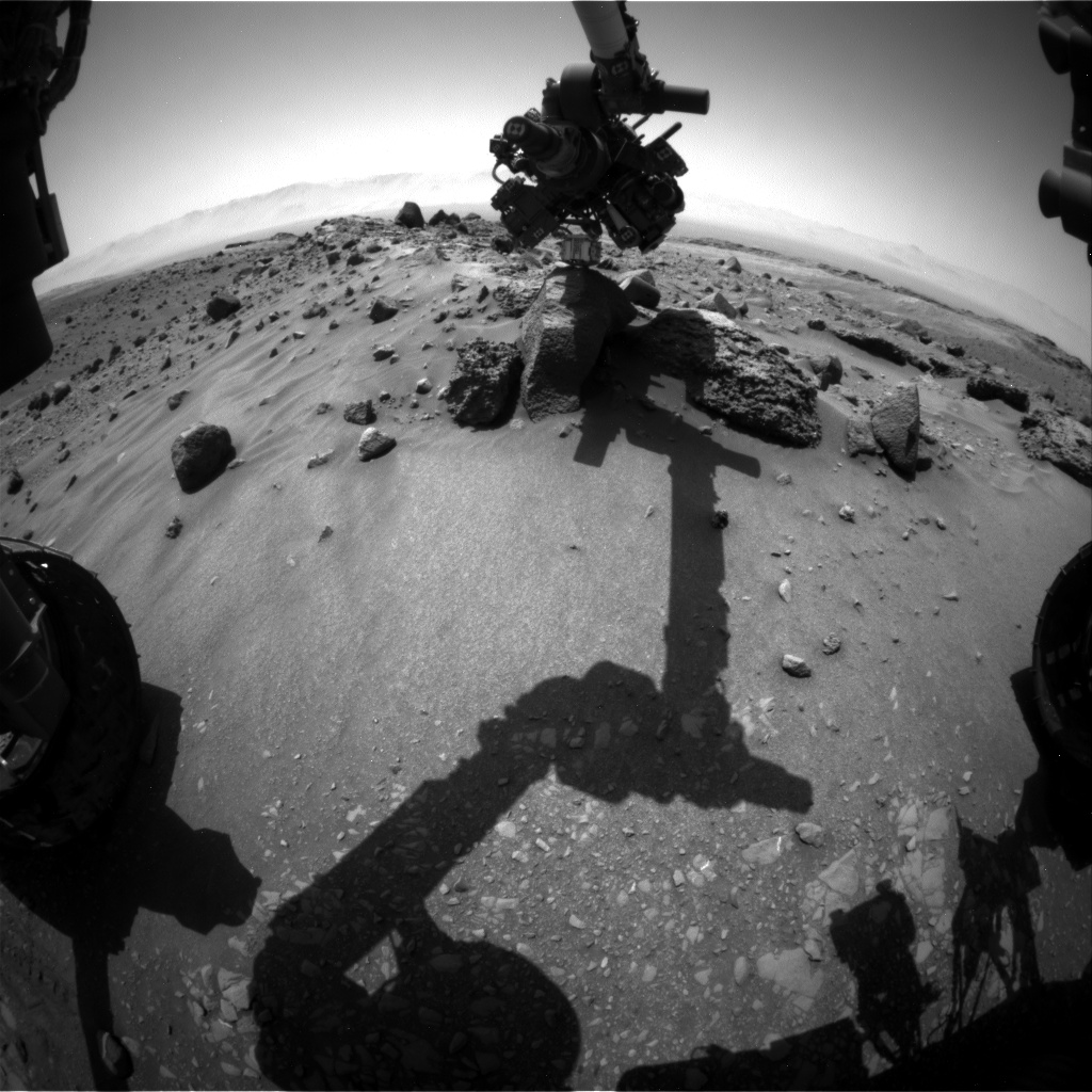 Nasa's Mars rover Curiosity acquired this image using its Front Hazard Avoidance Camera (Front Hazcam) on Sol 1408, at drive 0, site number 56