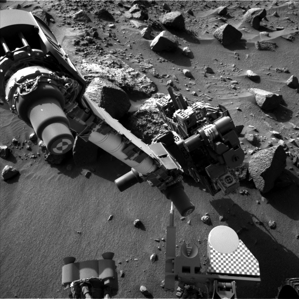 Nasa's Mars rover Curiosity acquired this image using its Left Navigation Camera on Sol 1409, at drive 0, site number 56