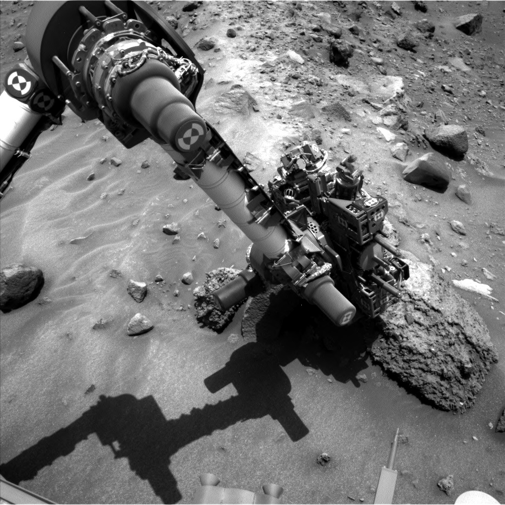 Nasa's Mars rover Curiosity acquired this image using its Left Navigation Camera on Sol 1410, at drive 0, site number 56