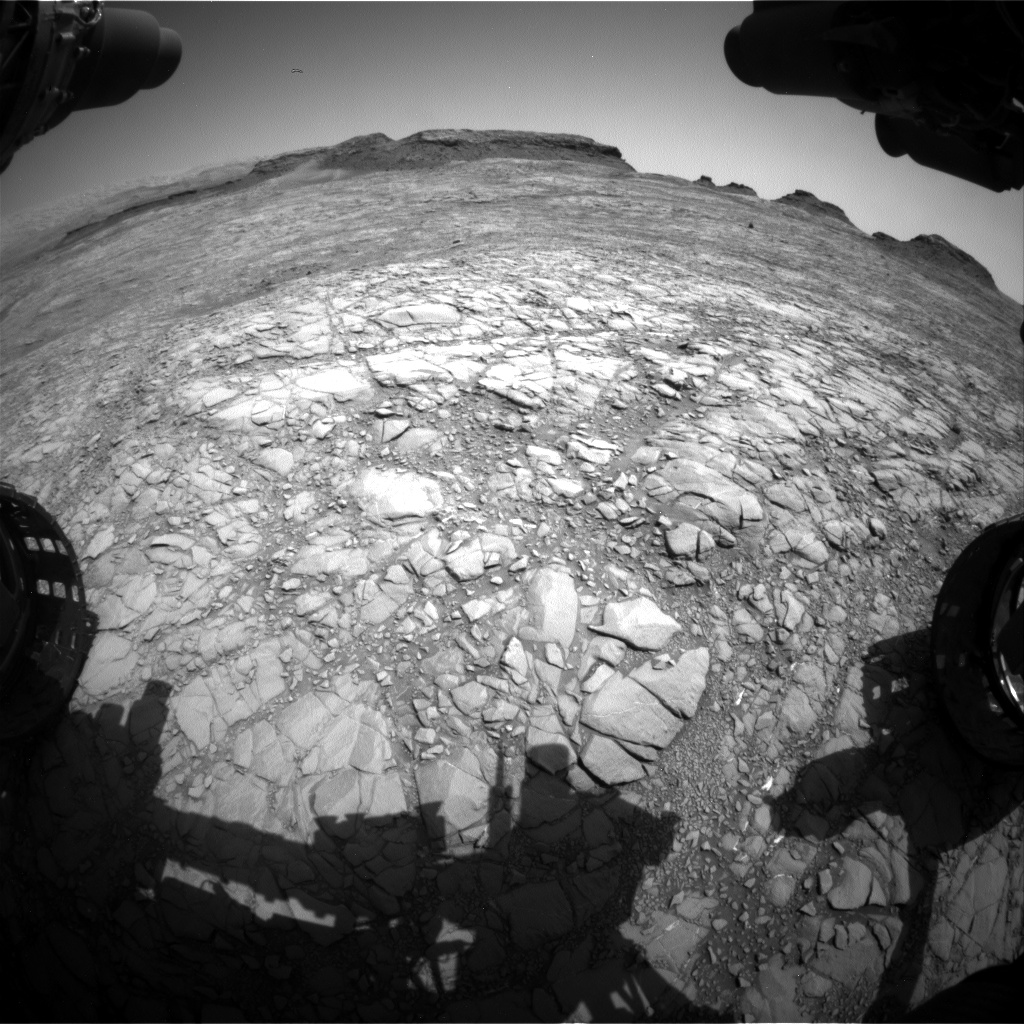 Nasa's Mars rover Curiosity acquired this image using its Front Hazard Avoidance Camera (Front Hazcam) on Sol 1411, at drive 462, site number 56