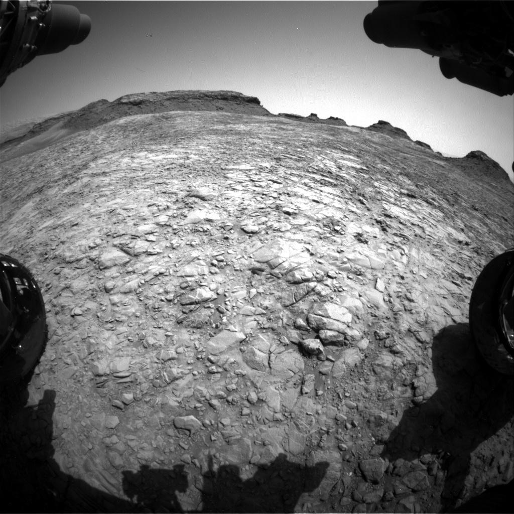 NASA's Mars rover Curiosity acquired this image using its Front Hazard Avoidance Cameras (Front Hazcams) on Sol 1412