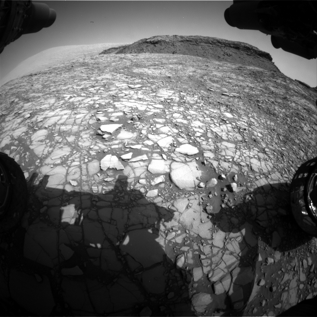 Nasa's Mars rover Curiosity acquired this image using its Front Hazard Avoidance Camera (Front Hazcam) on Sol 1414, at drive 1122, site number 56