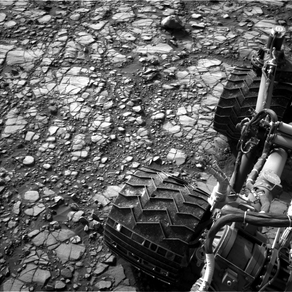 Nasa's Mars rover Curiosity acquired this image using its Left Navigation Camera on Sol 1414, at drive 1122, site number 56