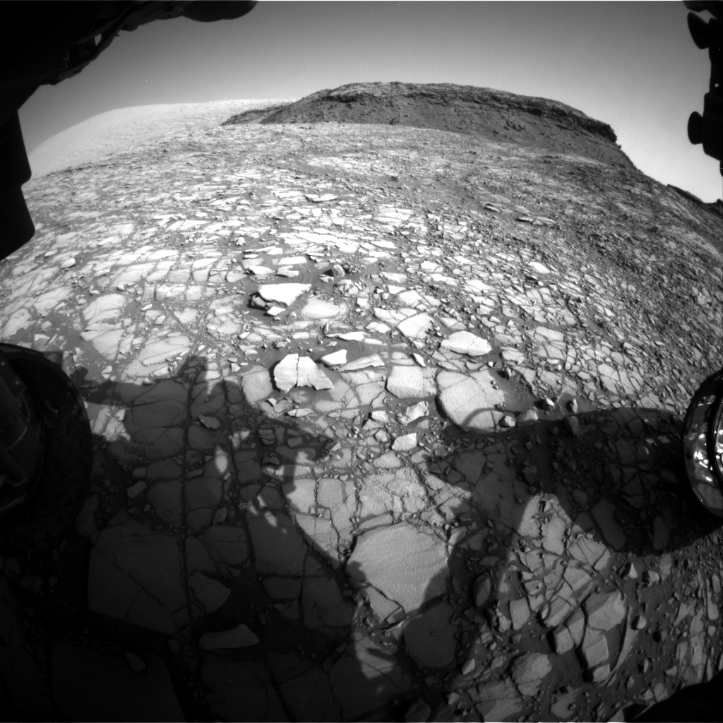 Nasa's Mars rover Curiosity acquired this image using its Front Hazard Avoidance Camera (Front Hazcam) on Sol 1415, at drive 1122, site number 56