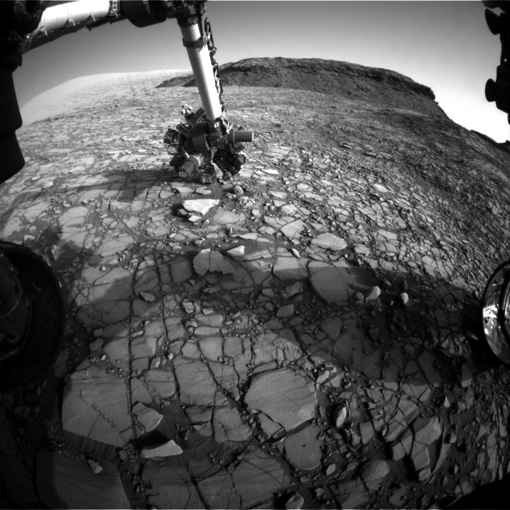 NASA's Mars rover Curiosity acquired this image using its Front Hazard Avoidance Cameras (Front Hazcams) on Sol 1416