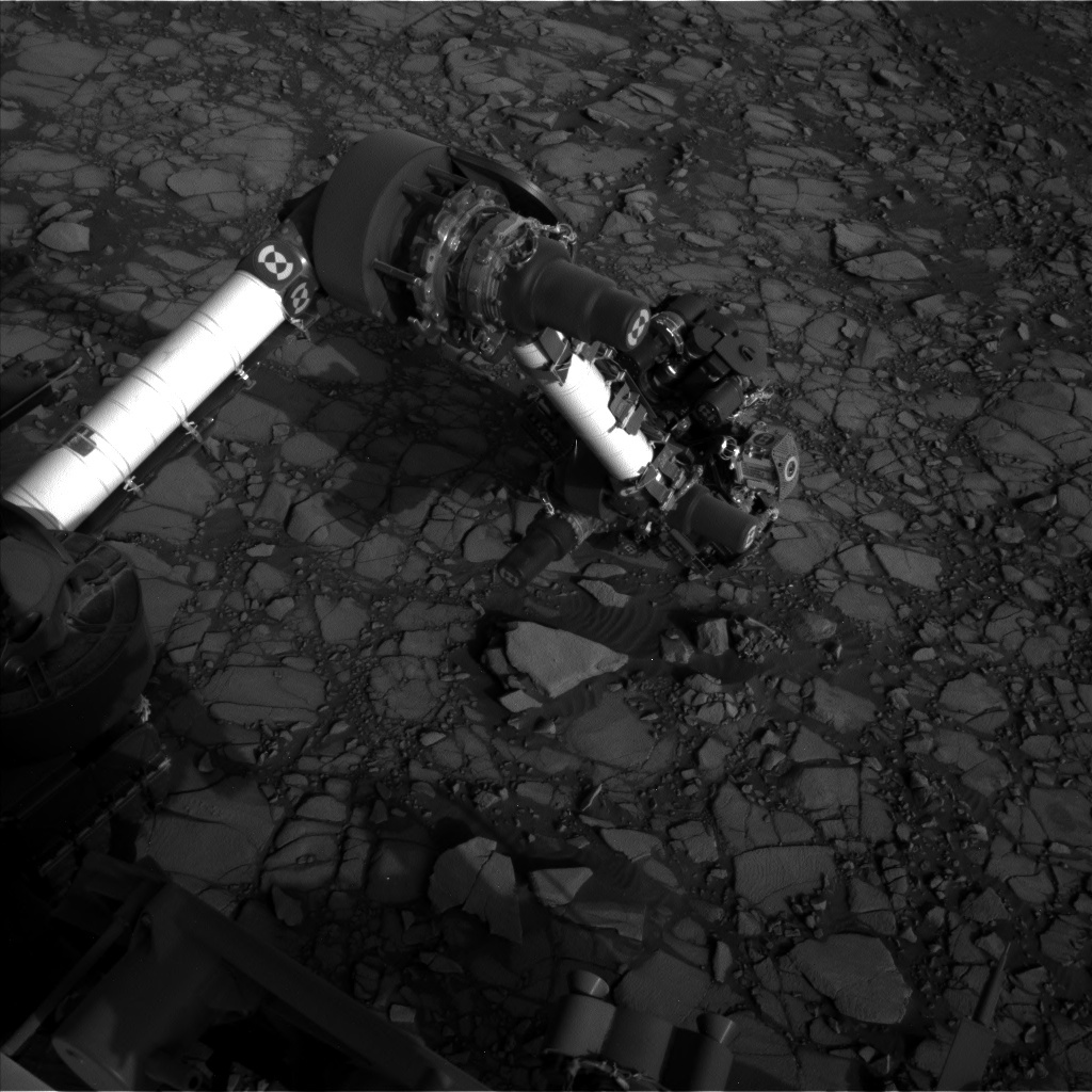 NASA's Mars rover Curiosity acquired this image using its Left Navigation Camera (Navcams) on Sol 1416