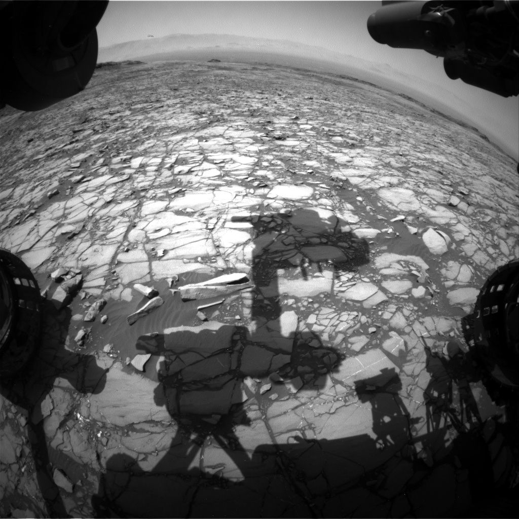 Nasa's Mars rover Curiosity acquired this image using its Front Hazard Avoidance Camera (Front Hazcam) on Sol 1417, at drive 1236, site number 56